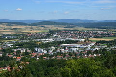 View from the VESTE COBURG castle in Coburg, Germany Royalty Free Stock Image