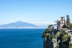 A view of Vesuvius from Vico Equense near Sorrento Stock Image