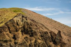 Vesuvius crater seen from the inside. royalty free stock image