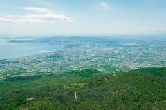 View from Vesuvius volcano Stock Photos