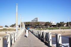 View from Vetches Pier of Ushaka Marine World Stock Images