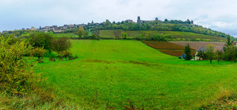 View of the Vezelay village Royalty Free Stock Image