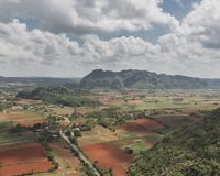 View of Viñales Valley - Rock climbing and horseback riding destination in Cuba - Landscape Orientation stock images