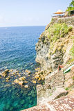 View of the Via dell' Amore (Lovers' lane), Cinque Terre, Italy Stock Photos