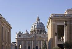 View from Via della Conciliazione of Saint Peter Basilica Stock Photography