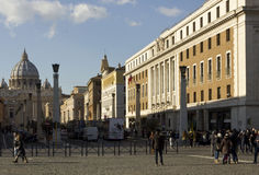 View from Via della Conciliazione of Saint Peter Basilica Royalty Free Stock Photo