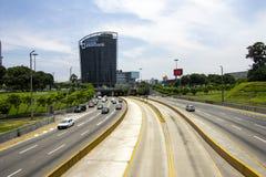 View of `Via Expresa` highway and metropolitan bus stock image