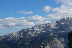 View from via ferrata Grosser Donnerkogel Royalty Free Stock Photo