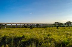 View of the viaduct of the Nairobi royalty free stock image