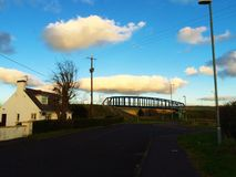 View of  viaduct. View of the sky and the viaduct Stock Image