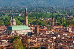 The city of Vicenza stock image
