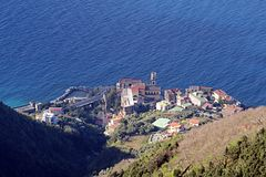 Sunny vico. A view of vico equense in italy from the mount faito Stock Photos