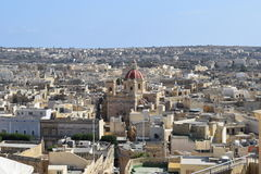 View of Victoria. The capital city of Gozo Royalty Free Stock Photography