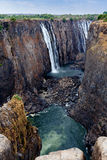 View of Victoria falls canyon Royalty Free Stock Photo