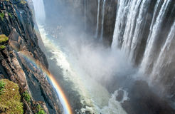 View of Victoria Falls on Zambezi River Royalty Free Stock Image