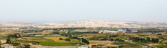 View of Victoria, Gozo, Malta islands Stock Image