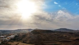 View of Victoria, Gozo, Malta islands Stock Images