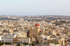 View of Victoria, Gozo, Malta islands. 2013 Royalty Free Stock Image