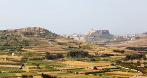 View of Victoria, Gozo, Malta islands Royalty Free Stock Photos