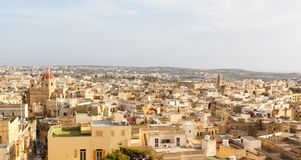 View of Victoria, Gozo, Malta islands. 2013 Royalty Free Stock Images