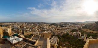 View of Victoria, Gozo, Malta islands. 2013 Stock Photos
