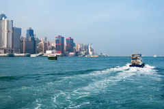 View on Victoria Harbour in Hong Kong Stock Image