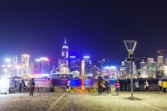 View of Victoria Harbour in Hong Kong from Kowloon Royalty Free Stock Images