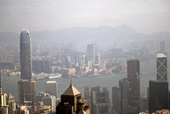 View from the Victoria Peak, Hongkong Royalty Free Stock Photo