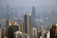 View from the Victoria Peak, Hongkong Stock Photos