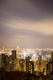 View from Victoria Peak to the business borough and the gulf in Stock Images