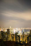 View from Victoria Peak to the business borough and the gulf in Stock Photography