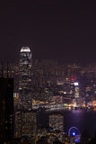 View from Victoria Peak to the business borough and the gulf in Royalty Free Stock Photography