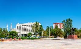 View of Victory Square in Bishkek - Kyrgyzstan Stock Image