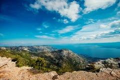 View from Vidova Gora on Brac island Stock Photography