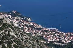 View from Vidova Gora. Touristic village Bol on Brac island, view from Vidova Gora royalty free stock photos