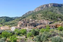 View of Viella Baixa, Spain. View of the medieval village of Viella Baixa in Catalonia, Spain Stock Photos