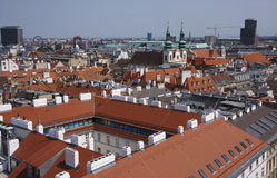 View of Vienna. From above Royalty Free Stock Image
