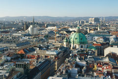 View of Vienna from above, Austria Royalty Free Stock Photos