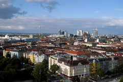 A view of Vienna, European city between past and future - Austria. A view of Vienna, European city between past and future - A panoramic view of the city of stock photo