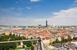 View of Vienna from the Ferris wheel. Austria Royalty Free Stock Photography