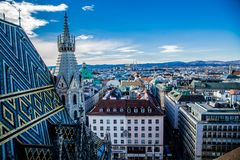 View of Vienna from the observation royalty free stock photo