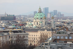 View on Vienna, St. Charles church, Wienerberg Stock Image