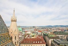View of Vienna with St. Stephen's Cathedral. Austria Stock Images