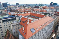 View of Vienna with St. Stephen's Cathedral. Austria Royalty Free Stock Image