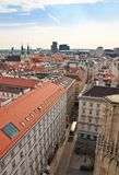 View of Vienna with St. Stephen's Cathedral. Austria Royalty Free Stock Photography