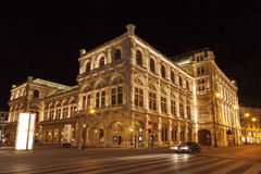 View of Vienna State Opera House (Staatsoper) at night Royalty Free Stock Photo