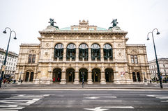 View of Vienna State Opera House (Staatsoper) in Vienna, Austria Stock Photography