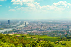 View of the vienna from the Vienna Woods Royalty Free Stock Image