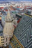 View of Vienna. From St. Stephen`s Cathedral, Austria Stock Image