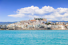View of Vieste, Italy. Beautiful panoramic view of Vieste, Italy Royalty Free Stock Images